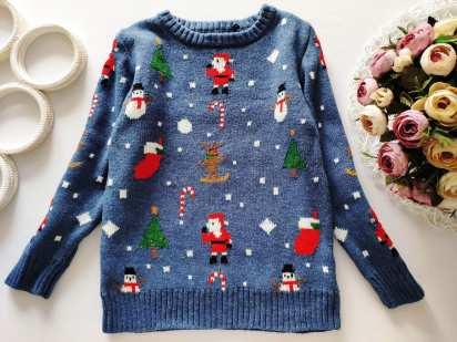 6 лет, рост 116 Теплый новогодний свитер