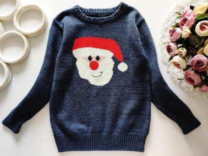 5 лет, рост 110 Котоновый свитер дед мороз