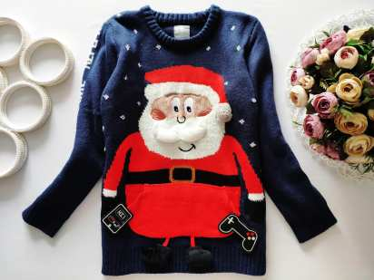 8,9 лет, рост 128,134 Новогодний свитер