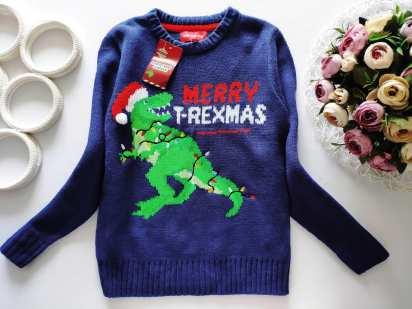 7,8 лет, рост 122,128 Новый свитер с динозавром