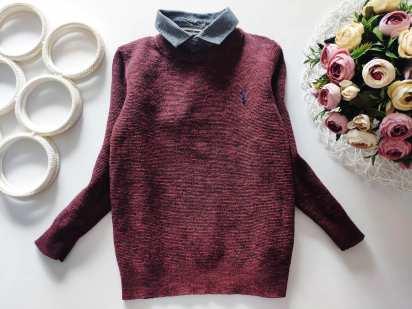 5 лет, рост 110 Котоновый свитер- обманка