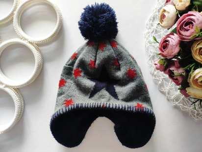 2,4 года Зимняя шапка на флисе
