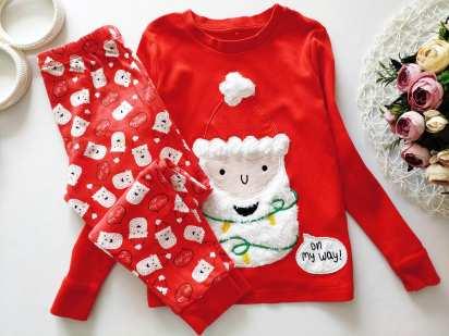 5,6 лет, рост 110,116 Детская новогодняя пижама