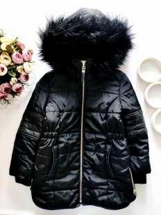 5,6 лет, рост 116 Теплая курточка для девочки