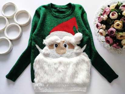 8,9 лет, рост 128,134 Новогодний детский свитер