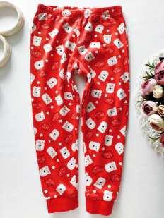 4,5 лет, рост 104,110 Новогодние трикотажние штаны