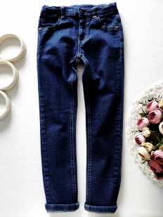 7,8 лет, рост 128 Стрейчевые джинсы