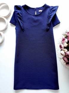 7,8 лет, рост 122,128 Синее платье