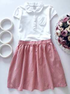 7 лет, рост 122 Новое детское платье в школу