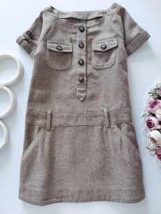 5,6 лет, рост 118 Теплое детское платье