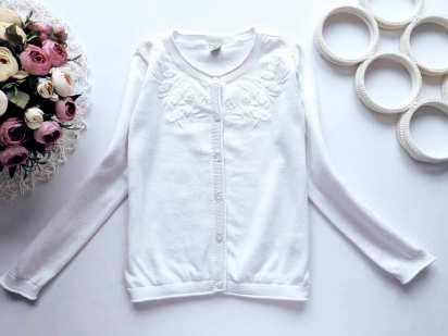 8 лет, рост 128 Белая кофта для девочки