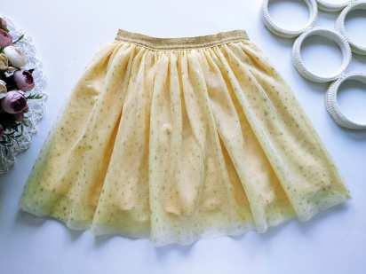 6,7 лет, рост 116,122 Лимонная юбка