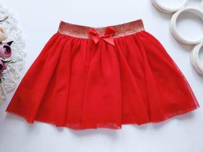 12\18 мес, рост 86 Фатиновая красная юбка