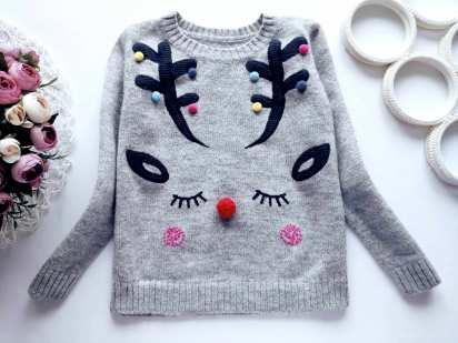 6,7 лет, рост 116,122 Милый детский свитер