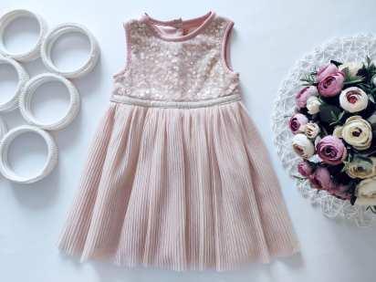 12\18 мес, рост 86 Детское нарядное платье