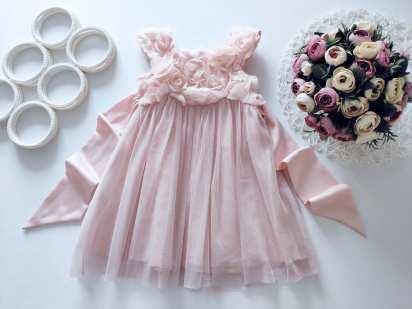 12\18 мес, рост 80,86 Детское нарядное платье