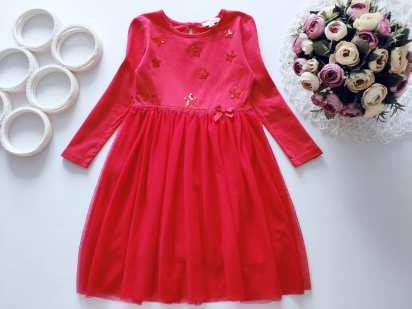 3,4 года, рост 104 Нарядное красное платье