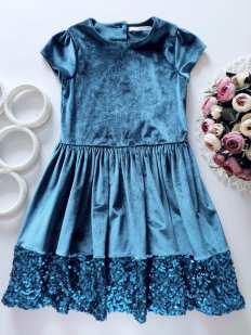 7,8 лет, рост 128 Шикарное бархатное платье