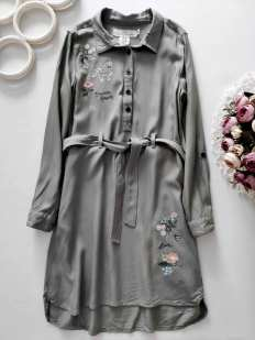 9,10 лет, рост 140 Платье- рубашка