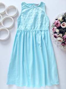 7,8 лет, рост 128 Мятное платье