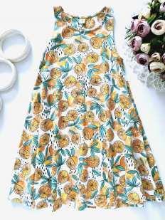 7 лет, рост 122 Платье с апельсинами