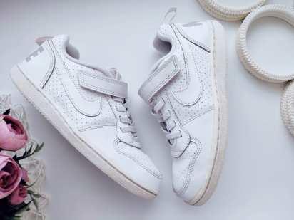 31,5 (20,5 см) Белые кожаные кроссовки