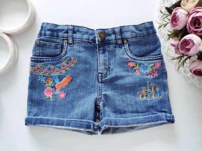 6 лет, рост 116 Стрейчевые джинсовые шорты
