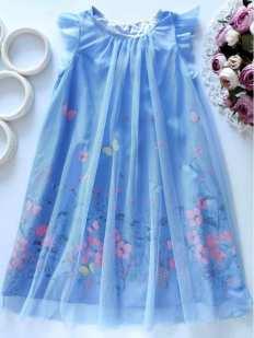 7,8 лет, рост 128 Нарядное детское платье