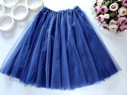 7,8 лет, рост 128 Пышная фатиновая юбка