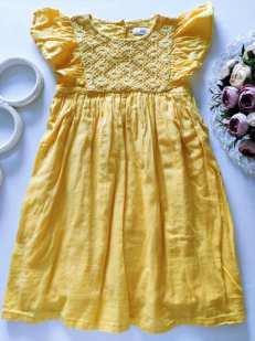 5,6 лет, рост 110,116 Лимонное платье