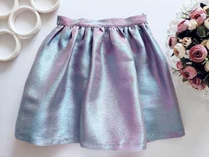 9 лет, рост 134 Шикарная блестящая юбка