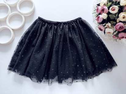 6,8 лет, рост 122,128 Блестящая черная юбка