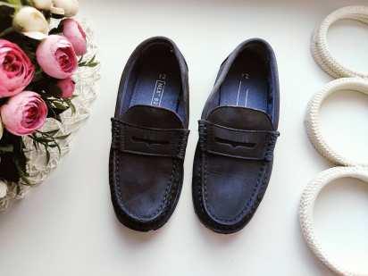 30 (19,5 см) Кожаные туфли- мокасины