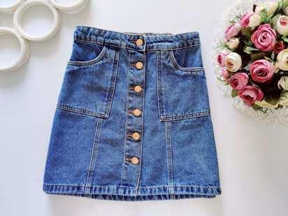 11,12 лет, рост 152 Джинсовая юбка