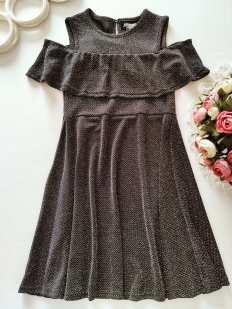 9,10 лет, рост 140 Нарядное блестящее платье