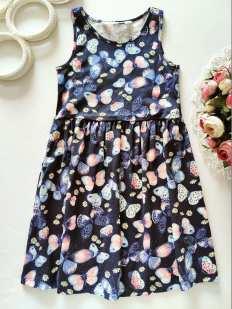 4,6 лет, рост 110,116 Новое платье в бабочках