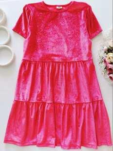 11,12 лет, рост 152 Бархатное блестящее платье