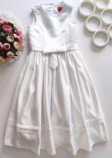 8 лет, рост 128 Белоснежное платье