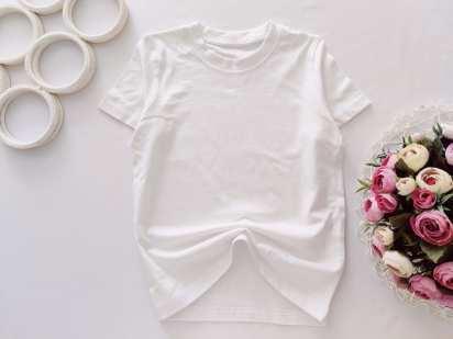 7,8 лет, рост 122,128 Новая белая футболка