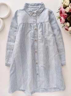 4,5 лет, рост 110 Модное платье- рубашка