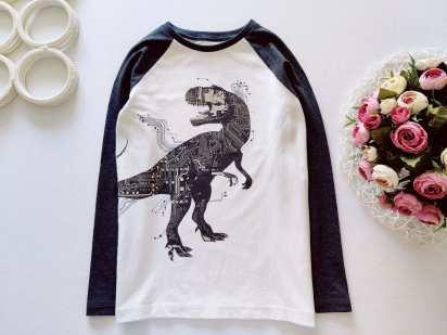 9 лет, рост 134 Лонгслив с динозавром