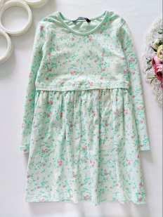 4,5 лет, рост 104,110 Мятное платье