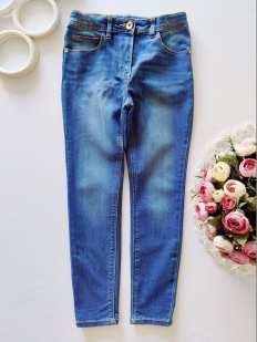 7,8 лет, рост 122,128 Стрейчевые джинсы скинни