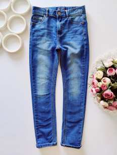 9 лет, рост 134 Мягкие джинсы