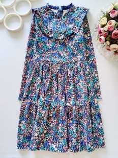 10,11 лет, рост 146 Цветочное платье Mantaray