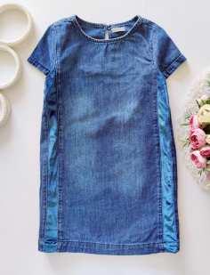 5 лет, рост 110 Джинсовое платье
