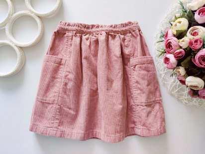 5,6 лет, рост 116 Вельветовая юбка