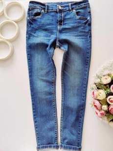 9,10 лет, рост 134,140 Стрейчевые джинсы