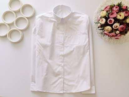 12,13 лет, рост 152,158 Новая белая рубашка