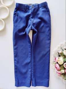 6 лет, рост 116 Синие детские брюки